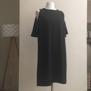 Ann Taylor LOFT Cold Shoulder LBD cocktail dress